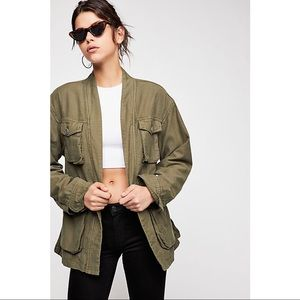 NWT Free People | In Our Nature Green Cargo Jacket